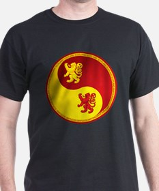 Scotland Ying Yang Red T-Shirt