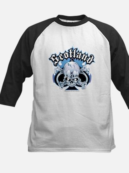 Scotland Skull & Ace Kids Baseball Jersey