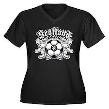 Scotland Soccer Women's Plus Size V-Neck Dark T-Sh