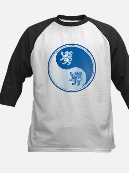 Scotland Ying Yang Blue Kids Baseball Jersey