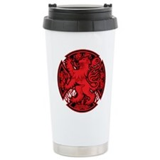Scottish Iron Cross Red Travel Coffee Mug