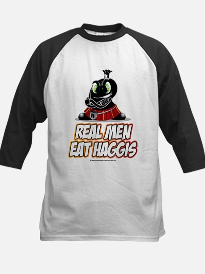 Real Men Eat Haggis Kids Baseball Jersey