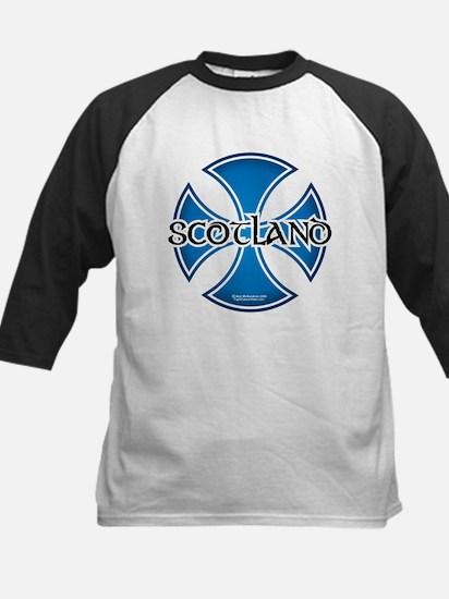 Scotland Independence Cross Kids Baseball Jersey