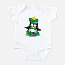Penguin Green Kilt Infant Bodysuit
