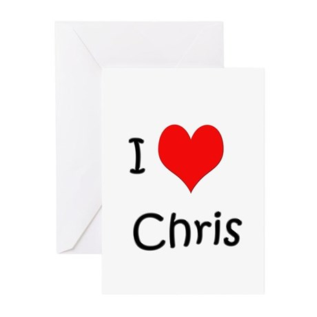 I Love Chris Greeting Cards (Pk of 10)