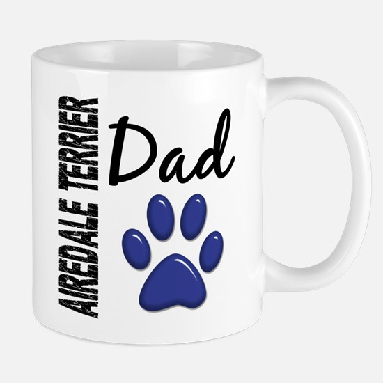 Airedale Terrier Dad 2 Large Mugs