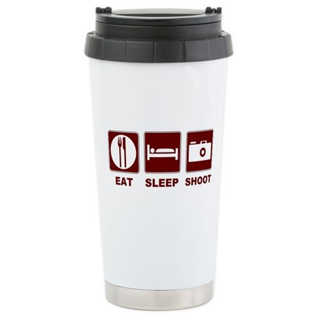 Eat Sleep Shoot Stainless Steel Travel Mug