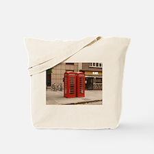 Funny Red phone box Tote Bag