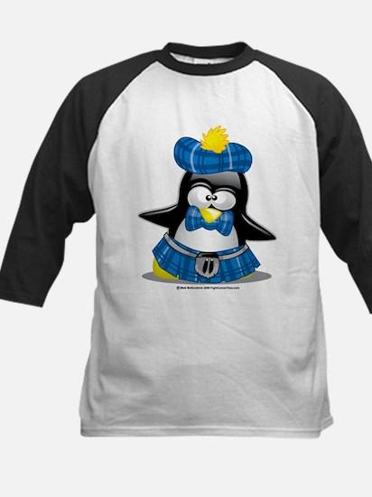 Penguin Blue Kilt Kids Baseball Jersey
