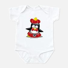 Penguin Red Kilt Infant Bodysuit