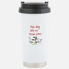 the dog ate my lesson plans! Travel Mug