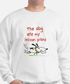 the dog ate my lesson plans! Sweater
