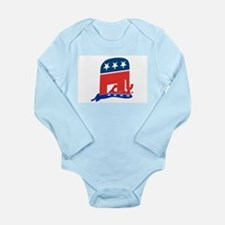 Unique Republicans kick ass Long Sleeve Infant Bodysuit