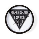 Maple Shade Police Wall Clock