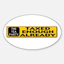 The Tea Party Sticker (Oval)
