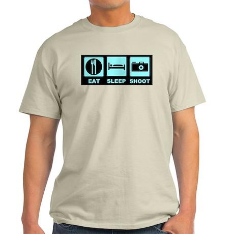 Eat Sleep Shoot Light T-Shirt