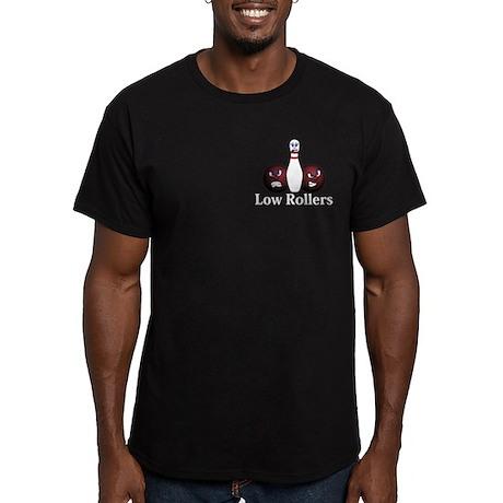 Low Rollers Logo 8 Men's Fitted T-Shirt (dark) Des