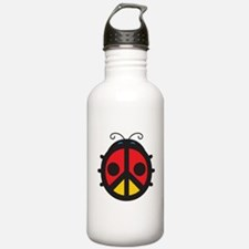 Peace Sign Ladybug Water Bottle
