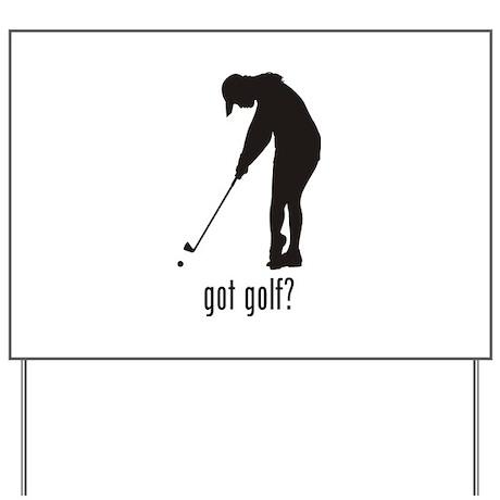 Golf 2 Yard Sign