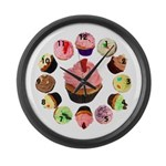 Cupcakes Large Wall Clock