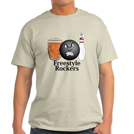 Freestyle Rockers Logo 10 Light T-Shirt Design Fro