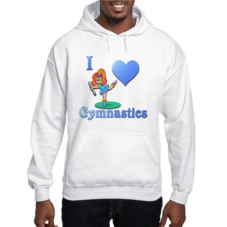 I Love Gymnastics #1 Hooded Sweatshirt