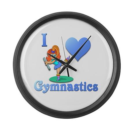 I Love Gymnastics #1 Large Wall Clock