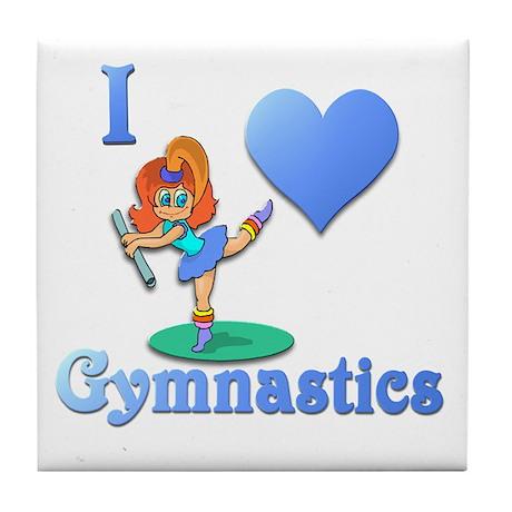 I Love Gymnastics #1 Tile Coaster