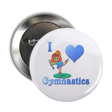 "I Love Gymnastics #1 2.25"" Button (10 pack)"