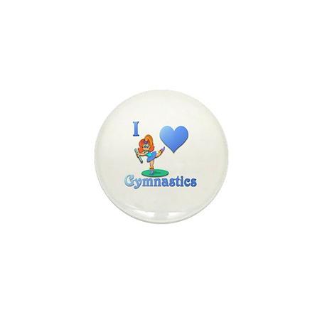 I Love Gymnastics #1 Mini Button