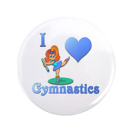 "I Love Gymnastics #1 3.5"" Button"
