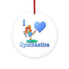 I Love Gymnastics #1 Ornament (Round)