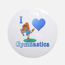 I Love Gymnastics #1 Ornament (Round)