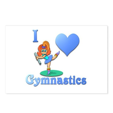 I Love Gymnastics #1 Postcards (Package of 8)