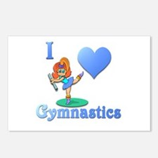 I Love Gymnastics #1 Postcards (Package of 8)