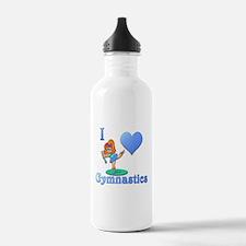 I Love Gymnastics #1 Water Bottle