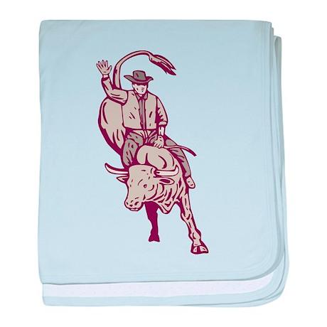 rodeo bull riding Infant Blanket
