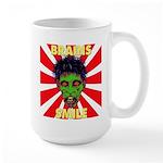 ZOMBIE-BRAINS-SMILE Large Mug