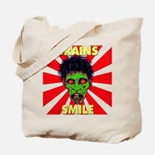 ZOMBIE-BRAINS-SMILE Tote Bag
