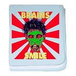 ZOMBIE-BRAINS-SMILE Infant Blanket