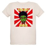 ZOMBIE-BRAINS-SMILE Organic Kids T-Shirt