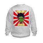 ZOMBIE-BRAINS-SMILE Kids Sweatshirt