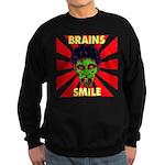 ZOMBIE-BRAINS-SMILE Sweatshirt (dark)