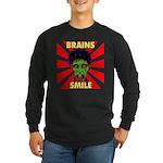 ZOMBIE-BRAINS-SMILE Long Sleeve Dark T-Shirt