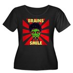 ZOMBIE-BRAINS-SMILE Women's Plus Size Scoop Neck D