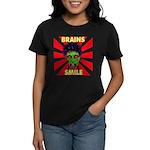 ZOMBIE-BRAINS-SMILE Women's Dark T-Shirt