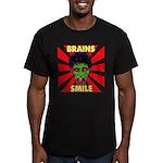 ZOMBIE-BRAINS-SMILE Men's Fitted T-Shirt (dark)