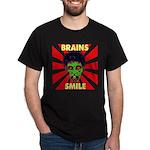 ZOMBIE-BRAINS-SMILE Dark T-Shirt