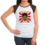 ZOMBIE-BRAINS-SMILE Women's Cap Sleeve T-Shirt