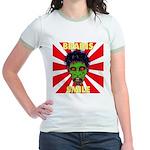 ZOMBIE-BRAINS-SMILE Jr. Ringer T-Shirt